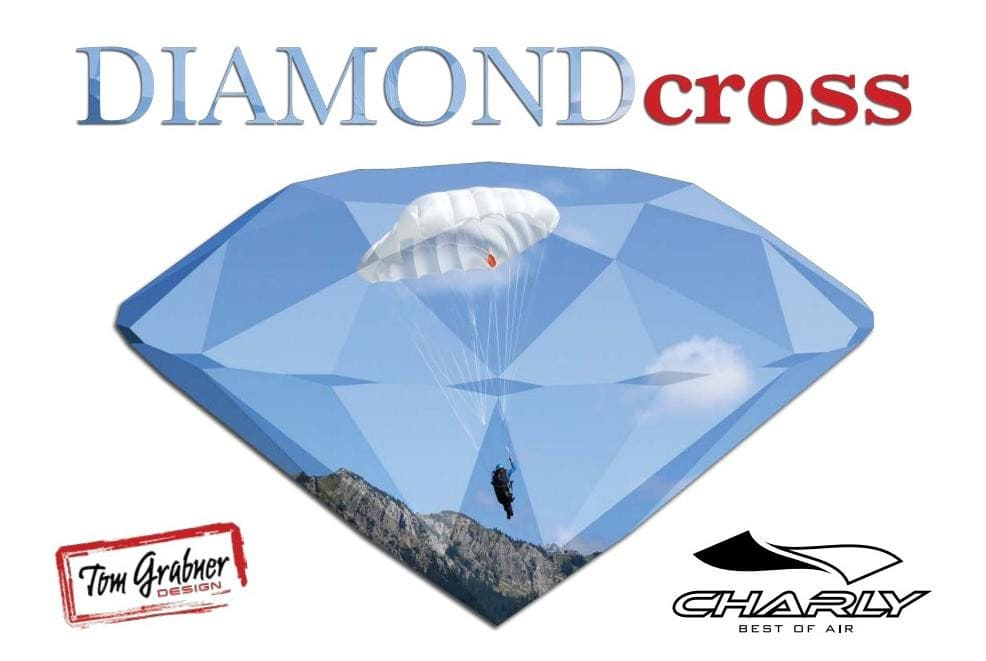 New paragliding rescue parachute Charly DiamandCross ST light 100 for sale