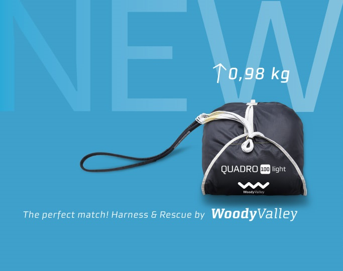 Sale paragliding reserve parachute Woody Valley Quadro 100 Light and 115