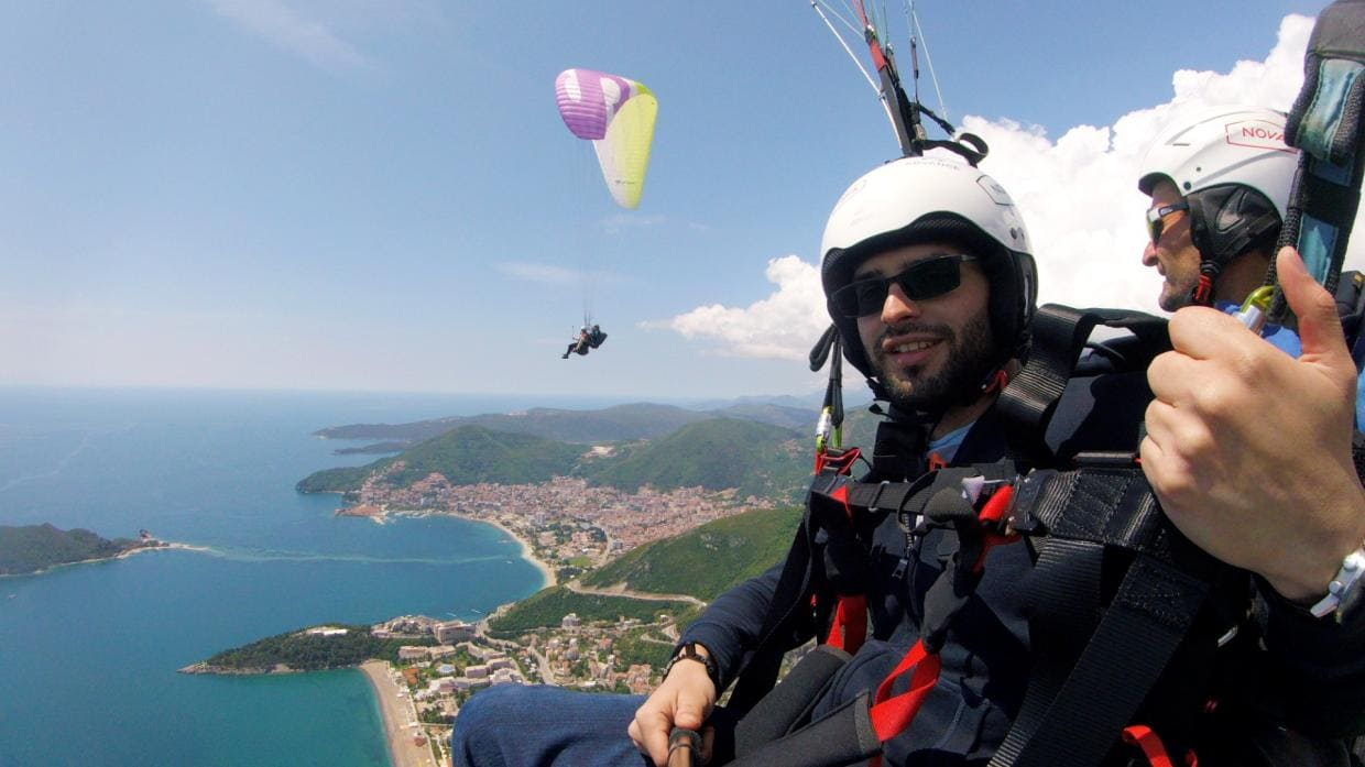 Paragliding in Montenegro - Flight is not in a dream, but in reality!